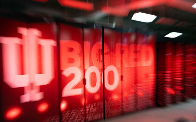 Big Red 200 supercomputer in IU's data center