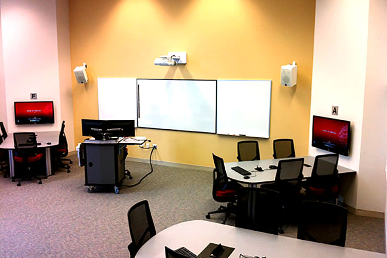 Learning space ES1117 in Education and Social Work building at IUPUI campus.