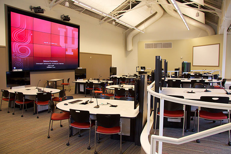 Collaborative Learning Studio SB15 at Student Building on IU Bloomington campus.